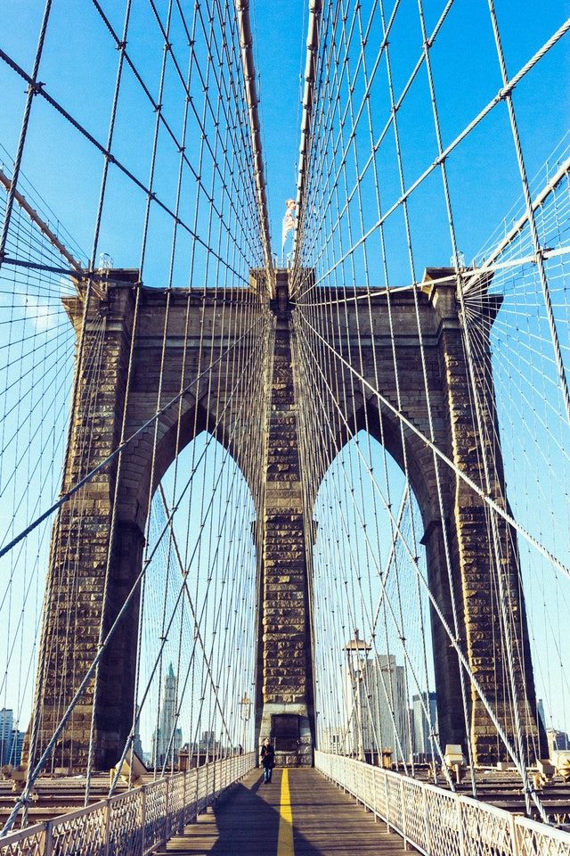 Brooklyn bridge close up