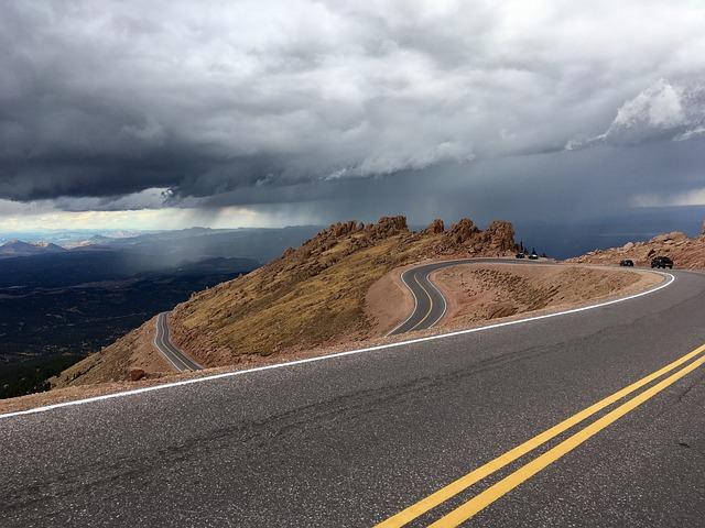 Long, wavy road